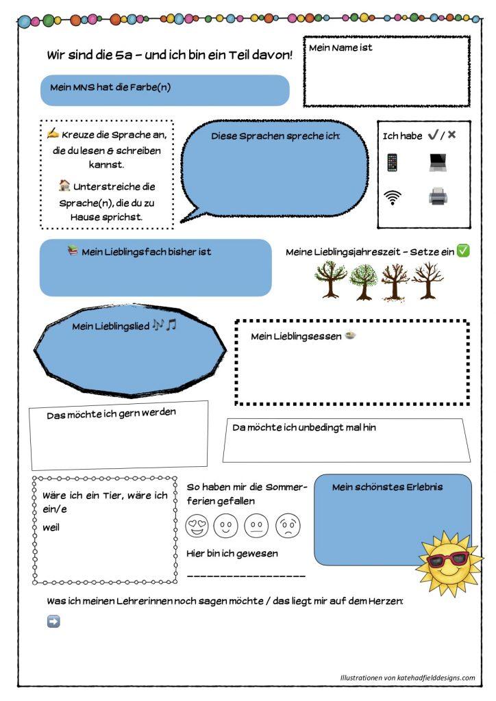 ideen kennenlernen 5. klasse