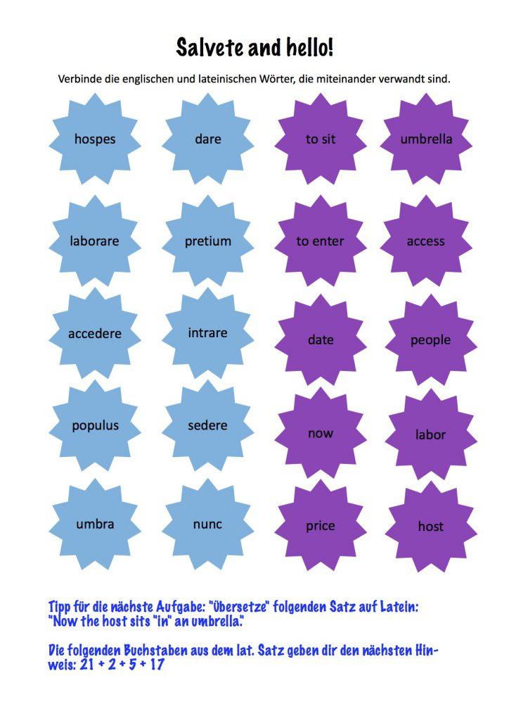 Lateinische Schatzsuche Mit Qr Codes Toller Unterricht