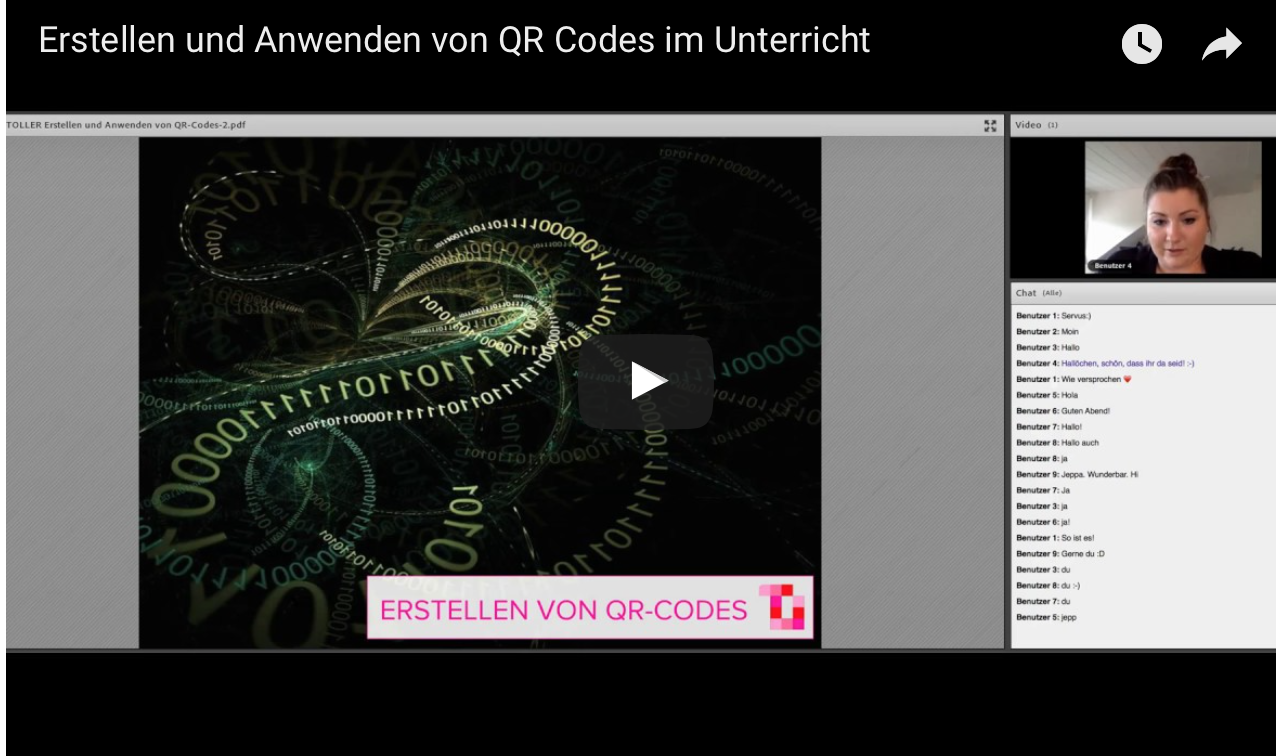 webinar qr codes im unterricht video toller unterricht. Black Bedroom Furniture Sets. Home Design Ideas